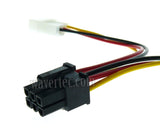 Wavertec 2 Molex to 6 Pin PCI E Adapter Cable 6 Pin Female to 2 x 4 Pin Male Computer Power Cord Splitter - wavertec.com - 2