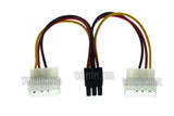Wavertec 2 Molex to 6 Pin PCI E Adapter Cable 6 Pin Female to 2 x 4 Pin Male Computer Power Cord Splitter - wavertec.com - 4