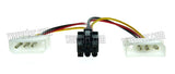 Wavertec 2 Molex to 6 Pin PCI E Adapter Cable 6 Pin Female to 2 x 4 Pin Male Computer Power Cord Splitter - wavertec.com - 3