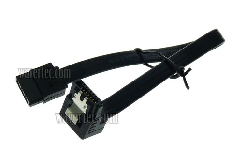 Wavertec 20cm 8in Short Right Angle SATA Data Cable SATA 3 6Gbps 7 Pin SATA Female to Female with Lead Locking Clips Computer Internal SATA Cable SSD Hard Drive HDD - wavertec.com - 1