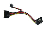 Wavertec 20cm 8in Right Angled SATA Power Cable Splitter 1 to 2 Extension Cable 1:2 15 Pin SATA