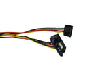 Wavertec 4 Pin Molex Male to 2x Right Angle 15 Pin SATA Female Power Splitter Adapter Cable 1:2