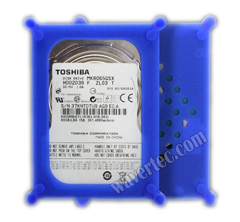 Wavertec 2.5 SATA IDE Hard Drive HDD Silica Case Blue Anti-Shock Protective Case Plastic - wavertec.com - 1