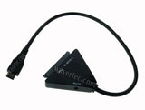 Wavertec 22 Pin SATA to USB 3.1 Type C Adapter Cable 12V 2A DC Power for MacBook PC Dell ThinkPad to Hard Disk Drive - US Plug