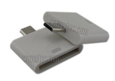 Wavertec Apple 30 Pin Female to Micro USB Male Adapter Converter - wavertec.com - 1