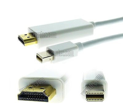 Wavertec 3M Mini DP Thunderbolt to HDMI Long Cable Mini Displayport Male to HDMI Male OEM - wavertec.com - 1