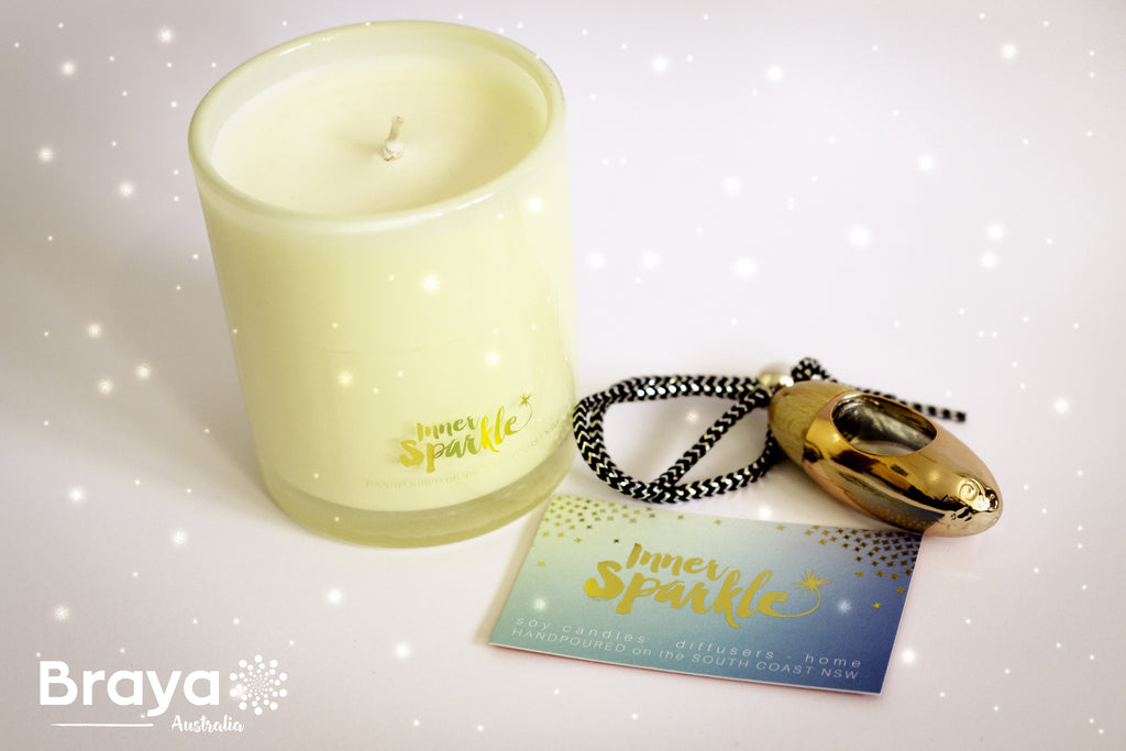 Inner Sparkle Soy Candles and Diffuser