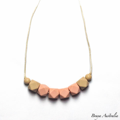 Peachy Silicone Necklace Sensory - Silicone Necklace By Braya Australia