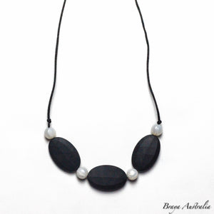 Black Pearl - Silicone Necklace By Braya Australia