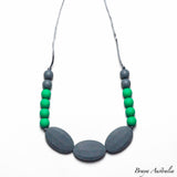 Braya Jade & Grey - Silicone Necklace By Braya Australia