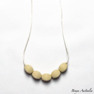 Elegant cream - Silicone Necklace By Braya Australia