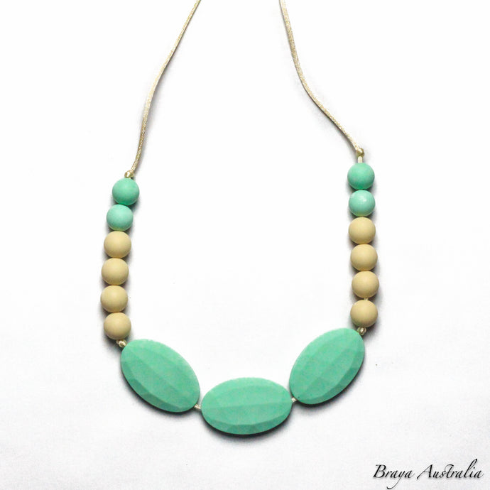 Braya Mint - Silicone Necklace By Braya Australia