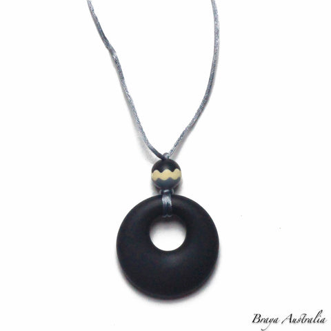 Ring Pendant Tri Bead - Silicone Necklace By Braya Australia