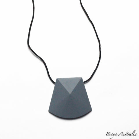 Faceted Pendant - Silicone Necklace By Braya Australia