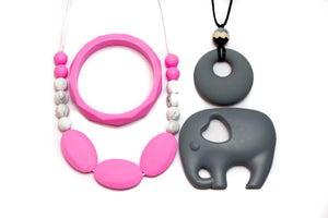 Gift Set Pink - Silicone Necklace By Braya Australia