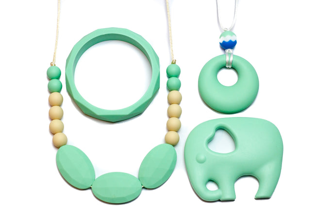 Gift Set Mint - Silicone Necklace By Braya Australia