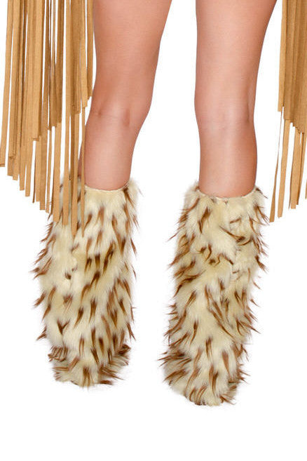 CC239 Brown Spike Legwarmers
