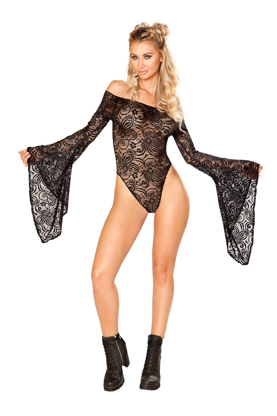 FF112 Cyclone Lace Long Sleeve Bodysuit (DISCONTINUED)