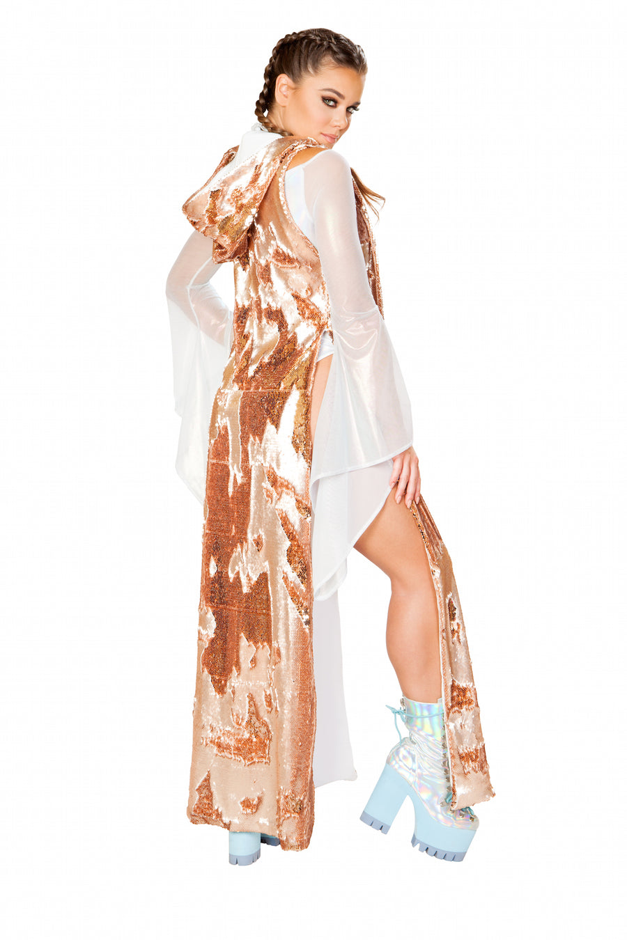FF155 Reversible Sequin Duster