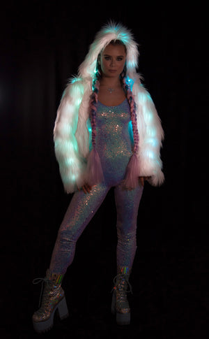 FF308 - COLOR CHANGING LIGHT-UP CROPPED JACKET
