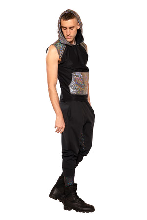 FF374 - UNISEX HOODED SLEEVELESS SHIRT