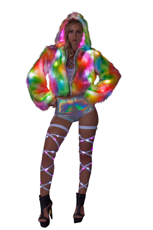 FF400 Rainbow Sherbet Light-Up Cropped Jacket