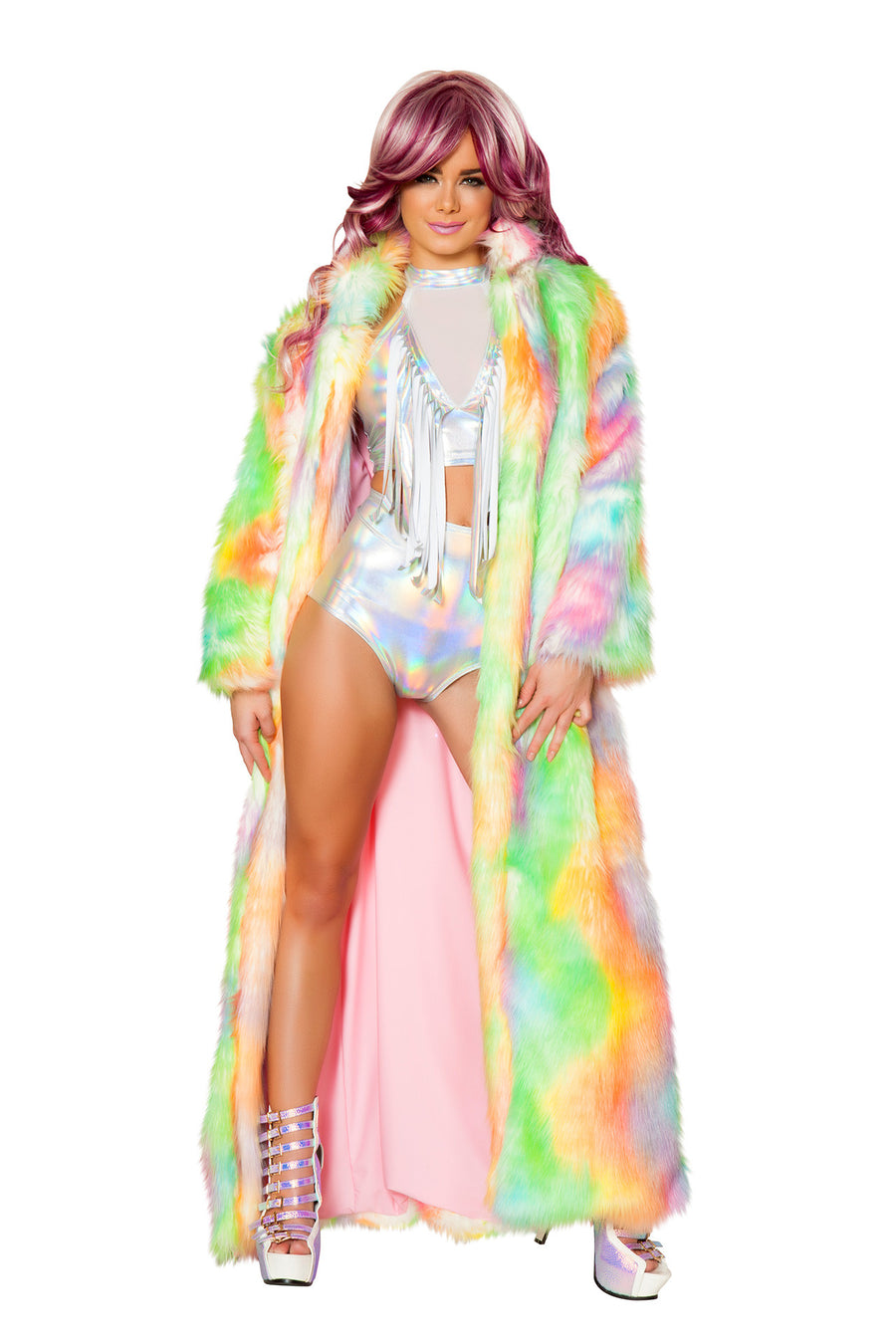 FF420 Rainbow Sherbet Light-Up Full Length Coat