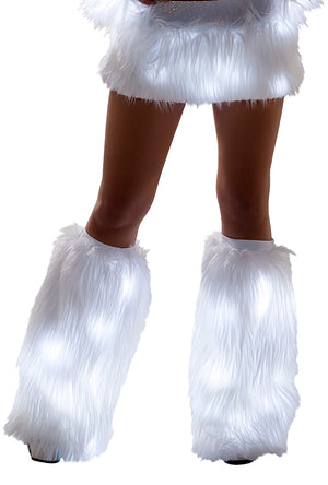 FF429 Faux Fur Light-Up Legwarmers
