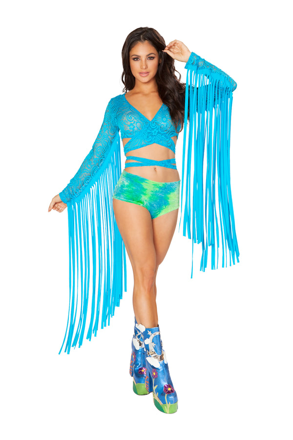 FF445 Lace Karma Fringe Wrap Top (New Colors)