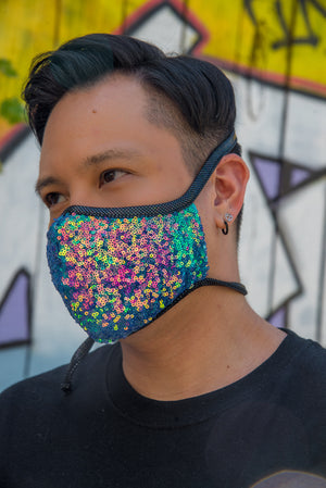 FF556 - Sequin Tailored Mask