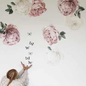 Peony & Rose Blush Wall Decals - Little Rae Prints