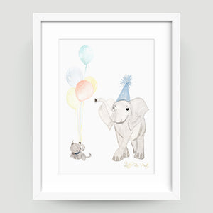 Baby + Dad Elephant - Little Rae Prints