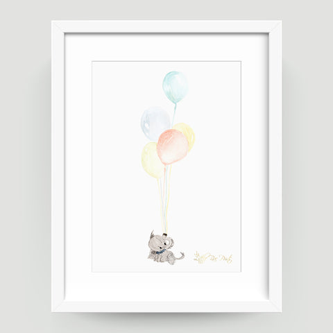 Baby Elephant - Little Rae Prints