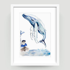 Boy and Whale - Little Rae Prints