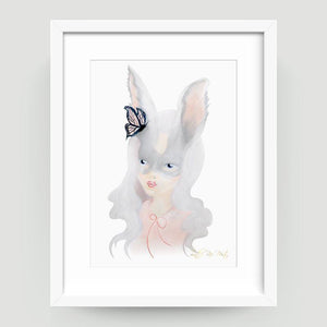 Silver Bunny - Little Rae Prints