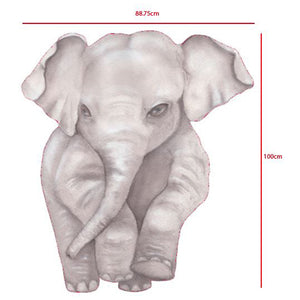 Large Elephant Forward Facing Wall Decal
