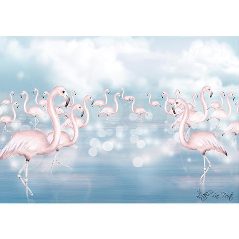 Flamingo Flock A3 - Little Rae Prints