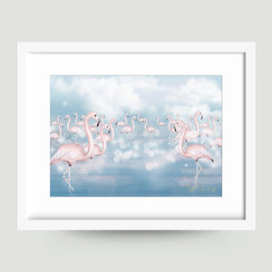 Flamingo Flock - Little Rae Prints