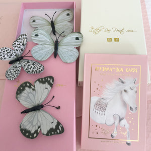 3D Butterfly Wall Decals + Affirmation Cards Gift Pack - Little Rae Prints