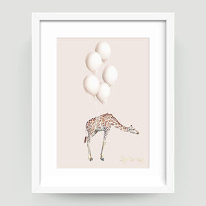 Giraffe Balloons - Little Rae Prints