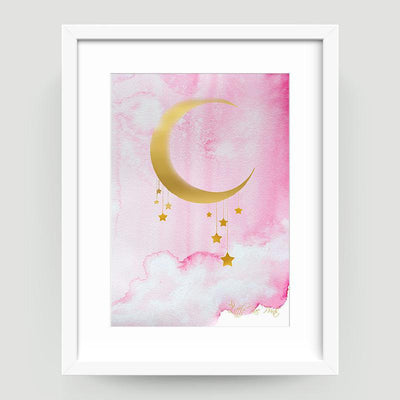 Midnight Pink Gold - Little Rae Prints