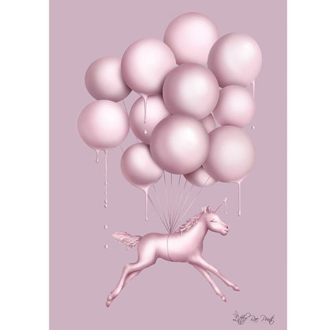 Unicorn Balloons A3 - Little Rae Prints