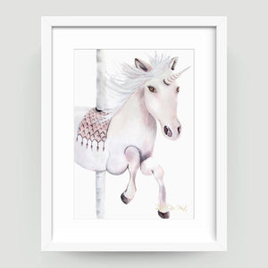 Carousel Unicorn - Little Rae Prints