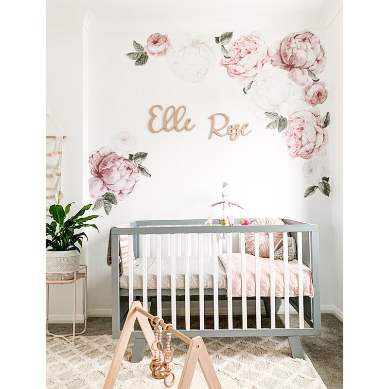 Peony Rose Wall Decals Little Rae Prints