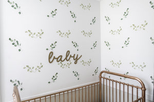 Green Leaf Foliage Wall Decals - Little Rae Prints