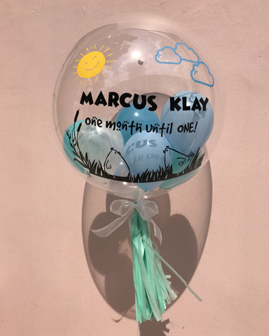 24 Inch Customized Bubble Balloon (Simple Text & Images)