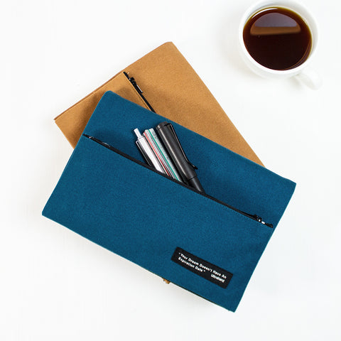 Ultrahard Classic Motto Snap Book Cover - Blue