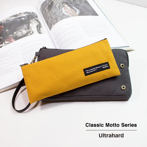 Ultrahard Classic Motto Snap on Pouch - Dark Grey/Yellow