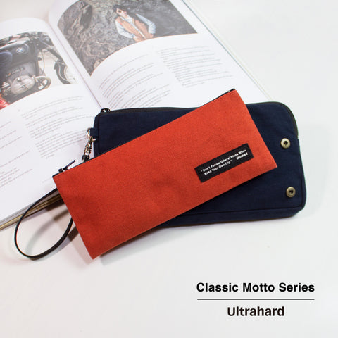 Ultrahard Classic Motto Snap on Pouch - Navy Orange