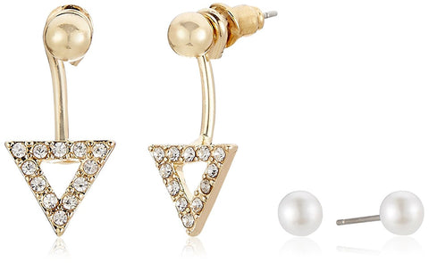 Covo Gold Pearl Earrings for Women